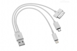 USB дата кабель 3 в 1 microUSB Apple iPhone 4 5
