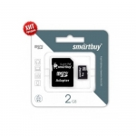Flash Card Smartbuy microSDHC 2Gb + SD adapter