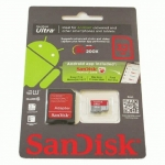 Flash Card microSD 32GB SanDisk cl.10 Class10 UHS-1 Ultra Android 80Mb/s +1ad