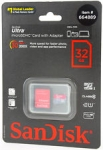 Flash Card microSD 32GB SanDisk cl.10 Class10 UHS-1 Ultra Imaging 80Mb/s +1ad