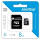 Flash Card Smartbuy microSDHC 8Gb + SD adapter